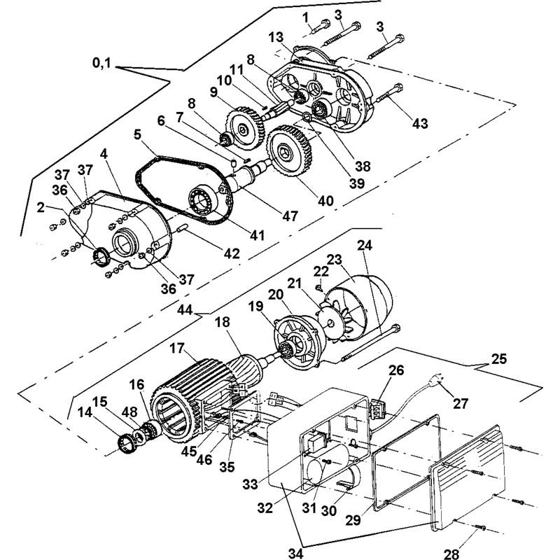 Imer Minuteman 2000 Concrete Mixer Parts