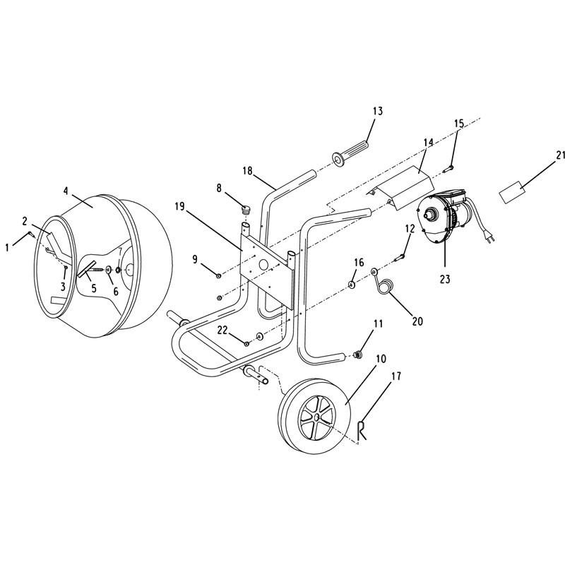 Imer Wheelman Ii Concrete Mixer Parts